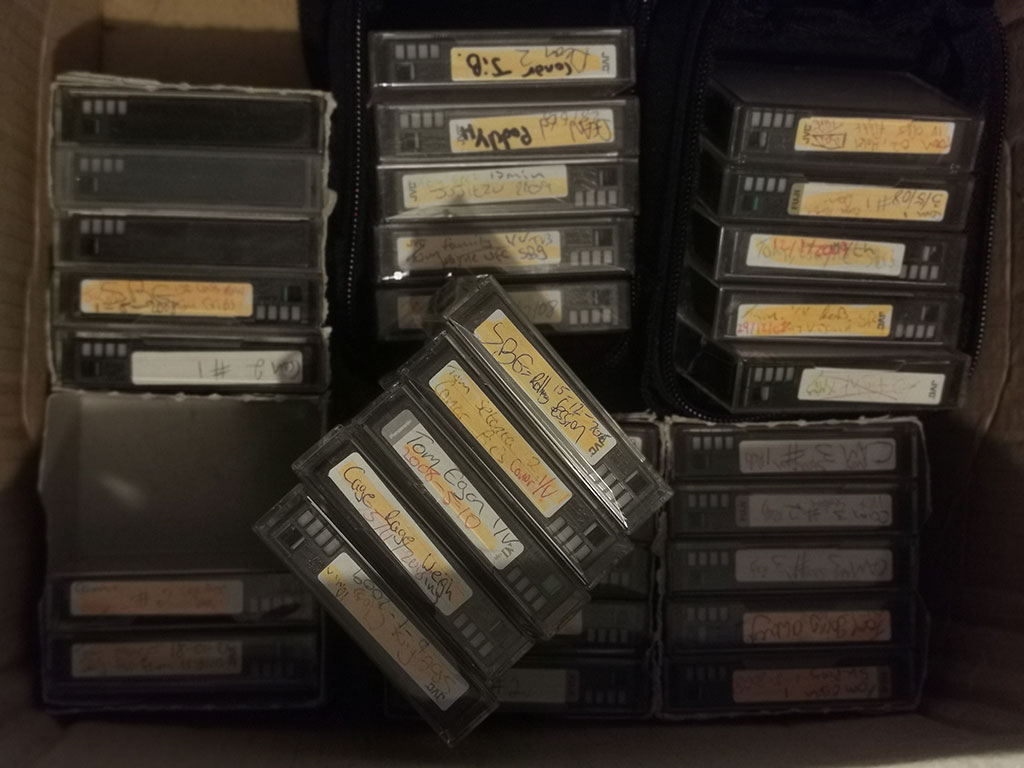 Archive collection of Irish MMA Tapes.