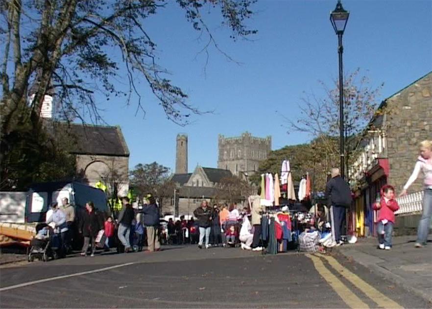 kildare town market square round tower thursday market
